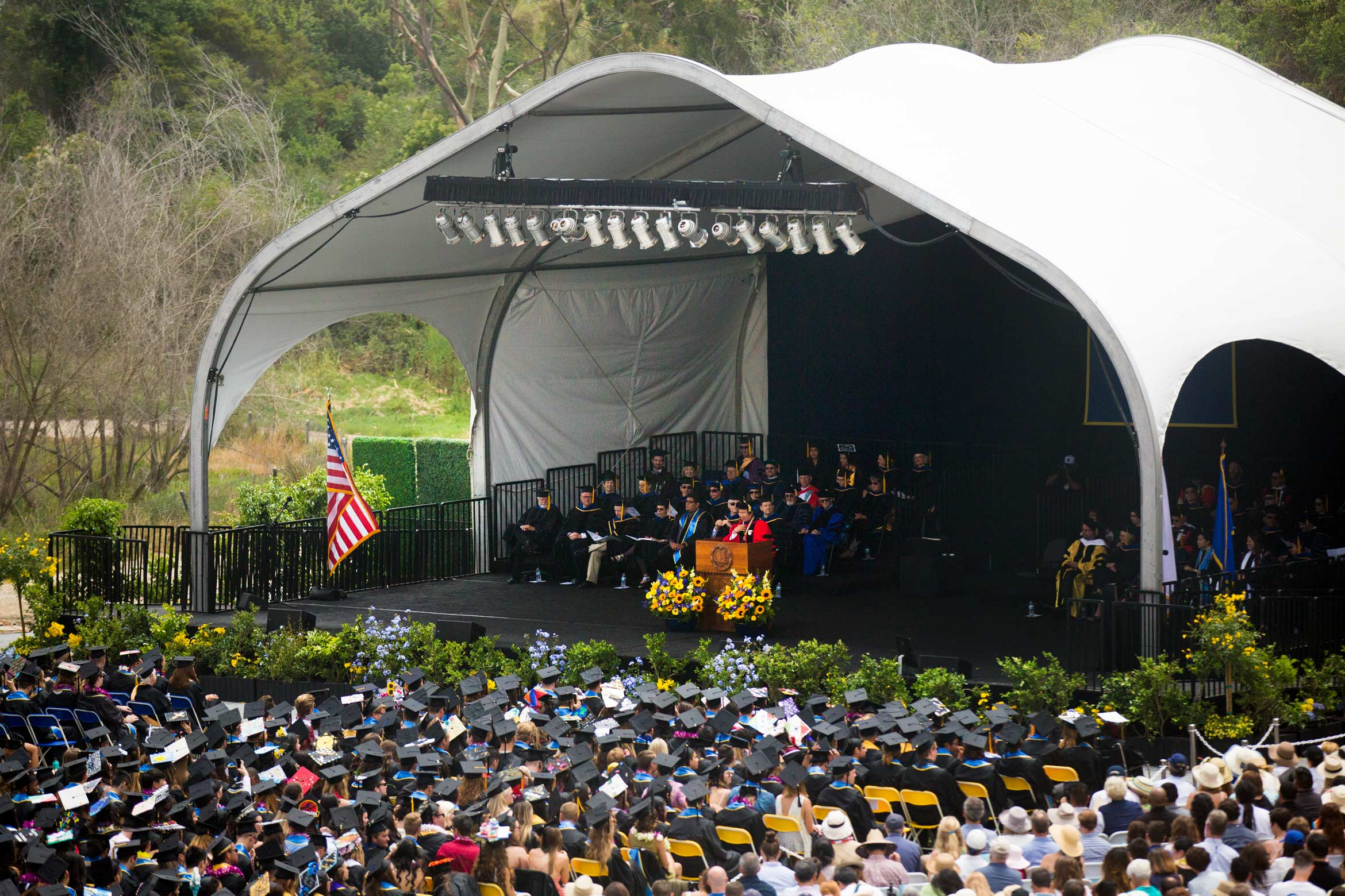 UC Santa Barbara Commencement Stage