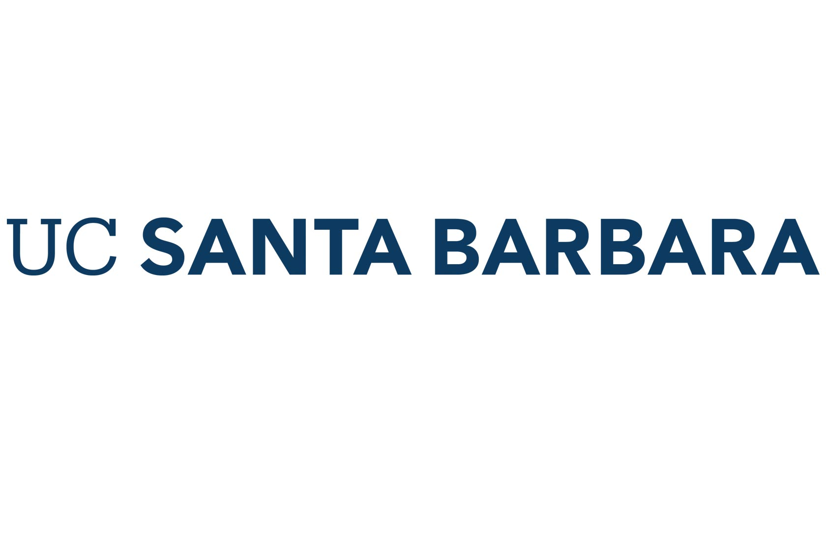 UC Santa Barbara wordmark Navy