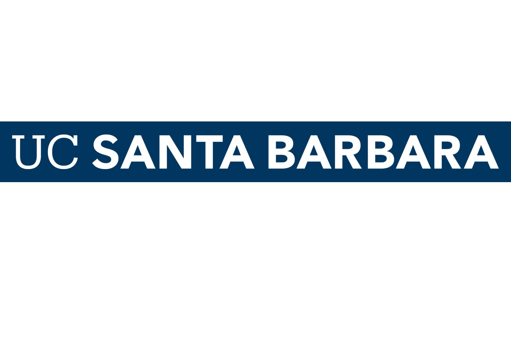 UC Santa Barbara wordmark reversed